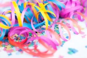 confetti, celebrate as a writer