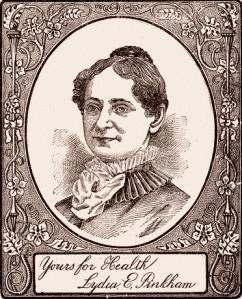 "Lydia E. Pinkham, ""iconic concocter"" according to Wikipedia."