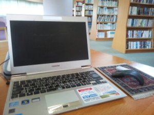 Taken May 17, 2014 in the library, Shihoro, Japan by Michaeline Duskova