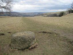 Boundary Stone, Eyam  (via Wikimedia Commons)