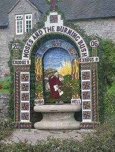 Derbyshire Well Dressing  (copyright Dennis Thorley via Wikimedia Commons)