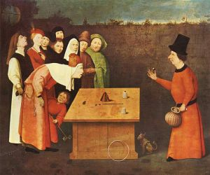 Magic pills are not always what they seem. The Conjurer, Workshop of Hieronymus Bosch, c. 1450-1516, via Wikimedia Commons