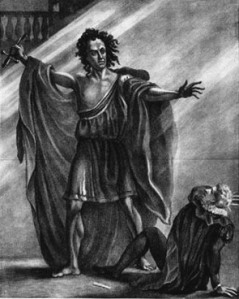 """""""What has brought me forth?"""" (1823, actor T.P. Cooke as Frankenstein, via Wikimedia Commons)"""