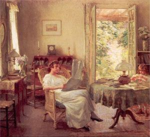Stay at home and dig deeper into your writing with a weekend plan. (Willard Leroy Metcalf, via Wikimedia Commons)