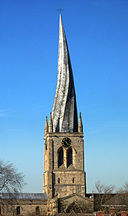 Crooked Spire, Chesterfield (Peter Tarleton via Wikimedia Commons)