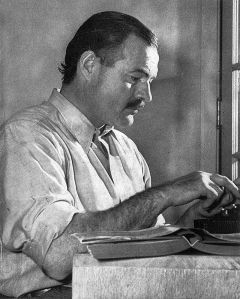 ernest hemingway, writing, writing life, writing habits, eight ladies writing, justine covington