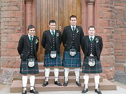 The groom and his best man and ushers (Jenny Mealing via Wikimedia Commons)