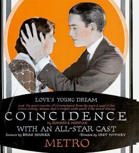 """Ah, love's young dream and the queer pranks of circumstance! On the other hand, as Ian Fleming writes in Goldfinger, """"Once is happenstance. Twice is coincidence. Three times, it's enemy action."""" (Image via Wikimedia Commons)"""