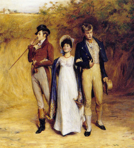 """""""Two Strings to Her Bow"""" by John Pettie, 1882. From Wikimedia Commons."""