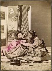 girls japanese reading
