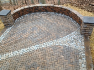 One January 2015 project that did get completed: our patio.