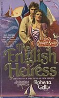 The original 1980 paperback cover of Roberta Gellis's The English Heiress.