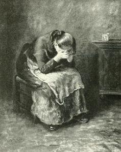 "Rosenhagen, Hans (1908). ""Uhde: des Meisters Gemälde"" (""A Weeping Girl"") courtesy wikimedia commons."