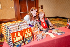 "Nora Roberts meets a fan at the 2014 ""Readers for Life"" Literacy Autographing"