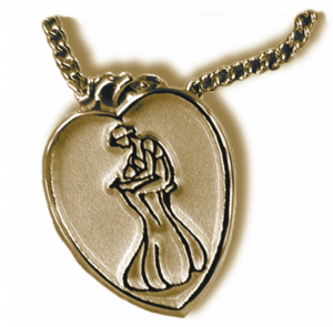 RWA's Golden Heart necklace, awarded to each Golden Heart winner.
