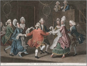 """The Cotillion Dance"" by Caldwall. 1771. Courtesy The Lewis Walpole Library, Yale University."
