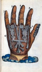 An artificial hand with gears inside