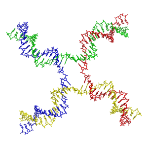 a Holliday Junction -- some sort of DNA thing. In four colors. Should be three for this book.