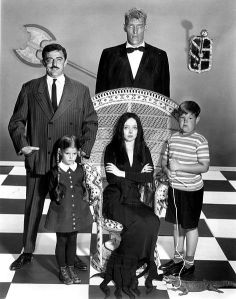 A family grouping of the monstrous Addams Family from the old TV show
