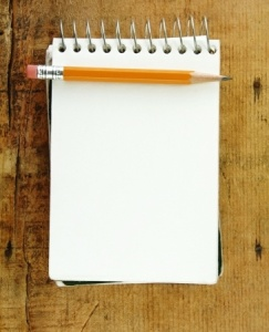 notepad for list