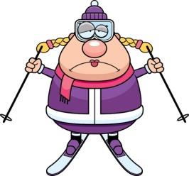 unhappy skier