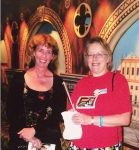 """Elizabeth with Jo Beverley during a """"Get Caught Reading at Sea"""" cruise"""