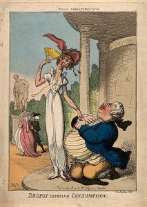 Colored etching by Thomas Rowlandson, 10 October 1810 (Wellcome Library, London)