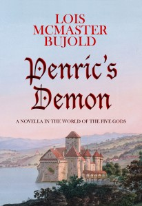 cover of Penric's Demon by Lois McMaster Bujold, published in July of 2015. Painting of a castle on a lake.