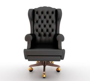 6490798 - classic glossy black chair, isolated on a white background