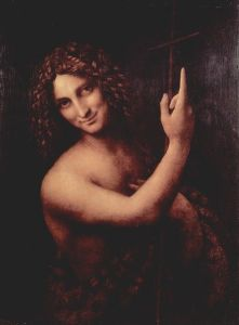 Androgynous image with curly hair on head and curly hair on chest.