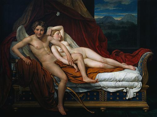 Cupid and Psyche (1817), by Jacques-Louis David (1748–1825)