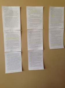 Why, you might ask, have I taped a scene to my wall? To keep my brain guessing.