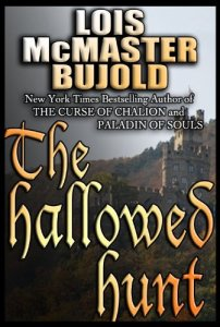 The cover of the Amazon UK e-release of the Hallowed Hunt -- gothic font with castles.