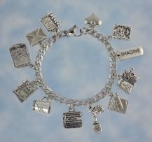 Writers Charm Bracelet