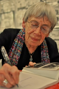 Le Guin at a booksigning in 2013