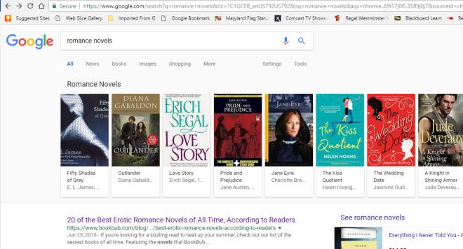 Google Romance Novels