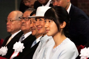 Crown Prince Naruhito; his wife the Crown Princess Masako and their daughter, Princess Aiko.