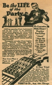 Be the Life of the Party a 1926 advertisement selling ukuleles