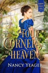 Cover: Four Corners of Heaven, young woman in fancy dress,