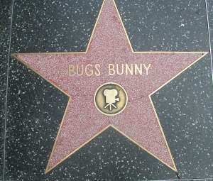 Bugs Bunny star on the Hollywood Walk of Fame