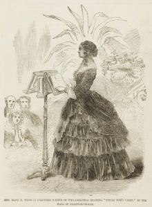 Drawing of F.J. Webb's wife, a Black orator who toured Great Britain in the 1850s
